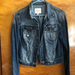 Women's cropped jean jacket